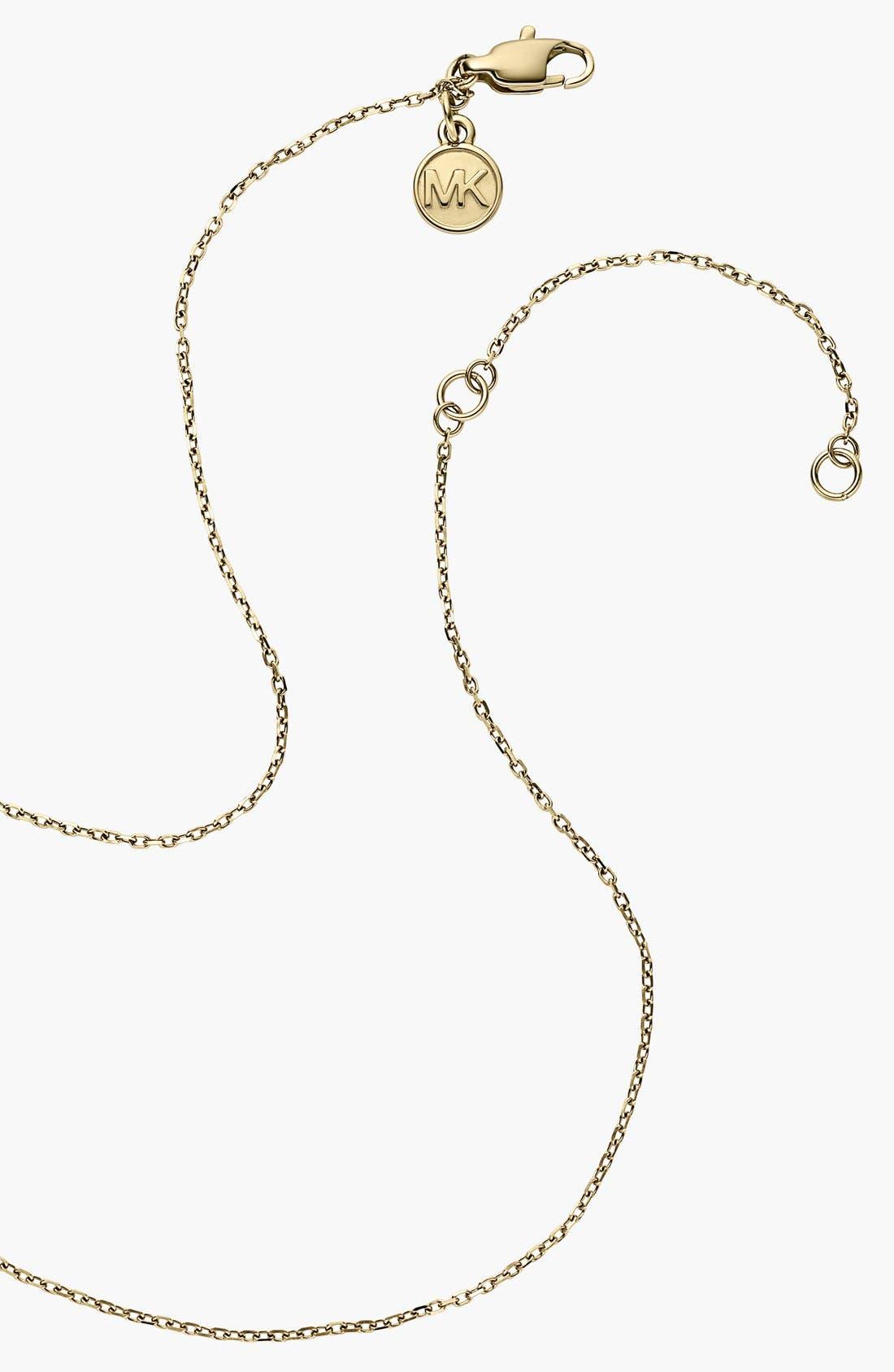 Alternate Image 3  - Michael Kors 'Statement Brilliance' Circle Pendant Necklace