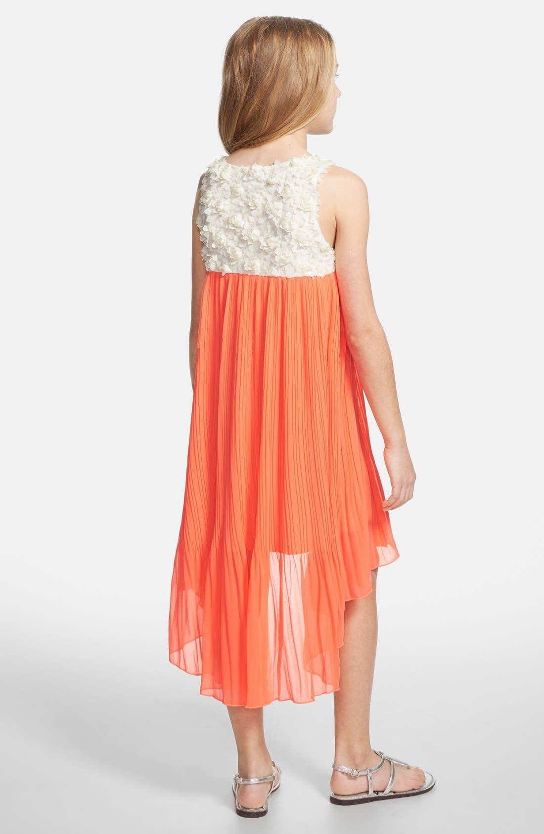 Alternate Image 2  - Truly Me Sleeveless High/Low Dress (Big Girls)
