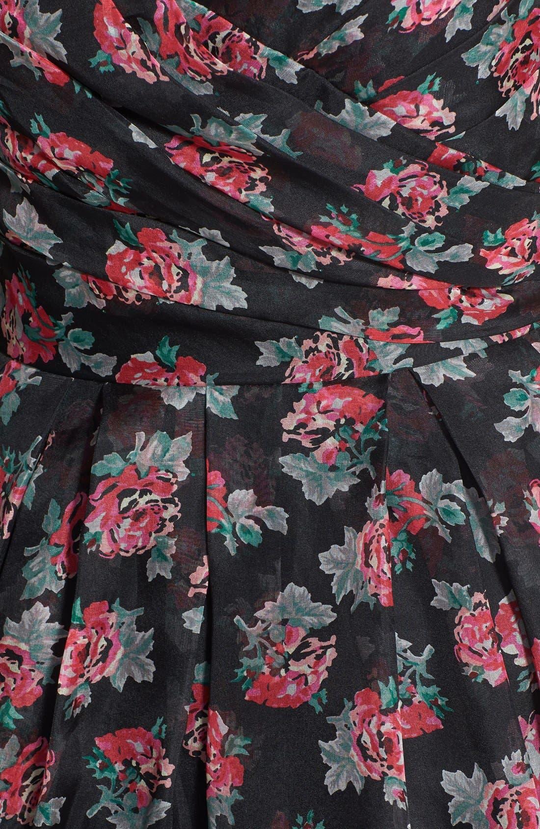 Alternate Image 3  - Jill Jill Stuart Strapless Print Ruched Silk Organza Ballgown