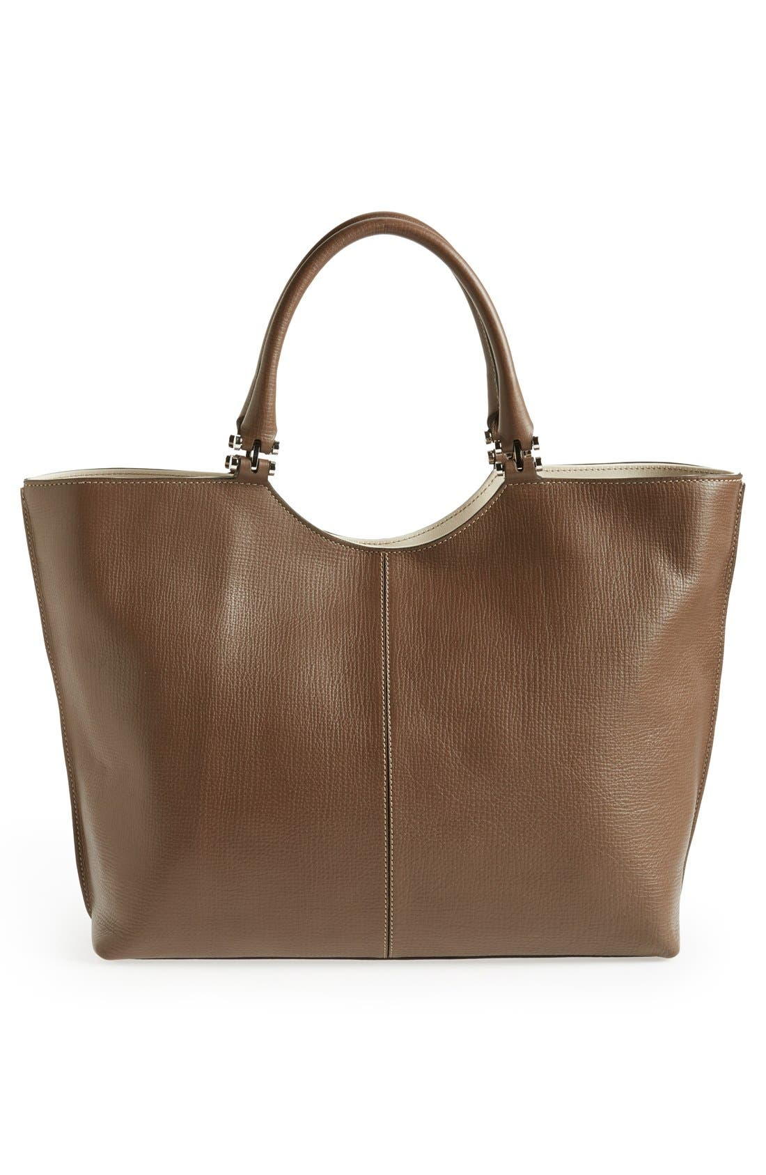 Alternate Image 4  - Tod's 'Alu - Grande' Leather Shopper