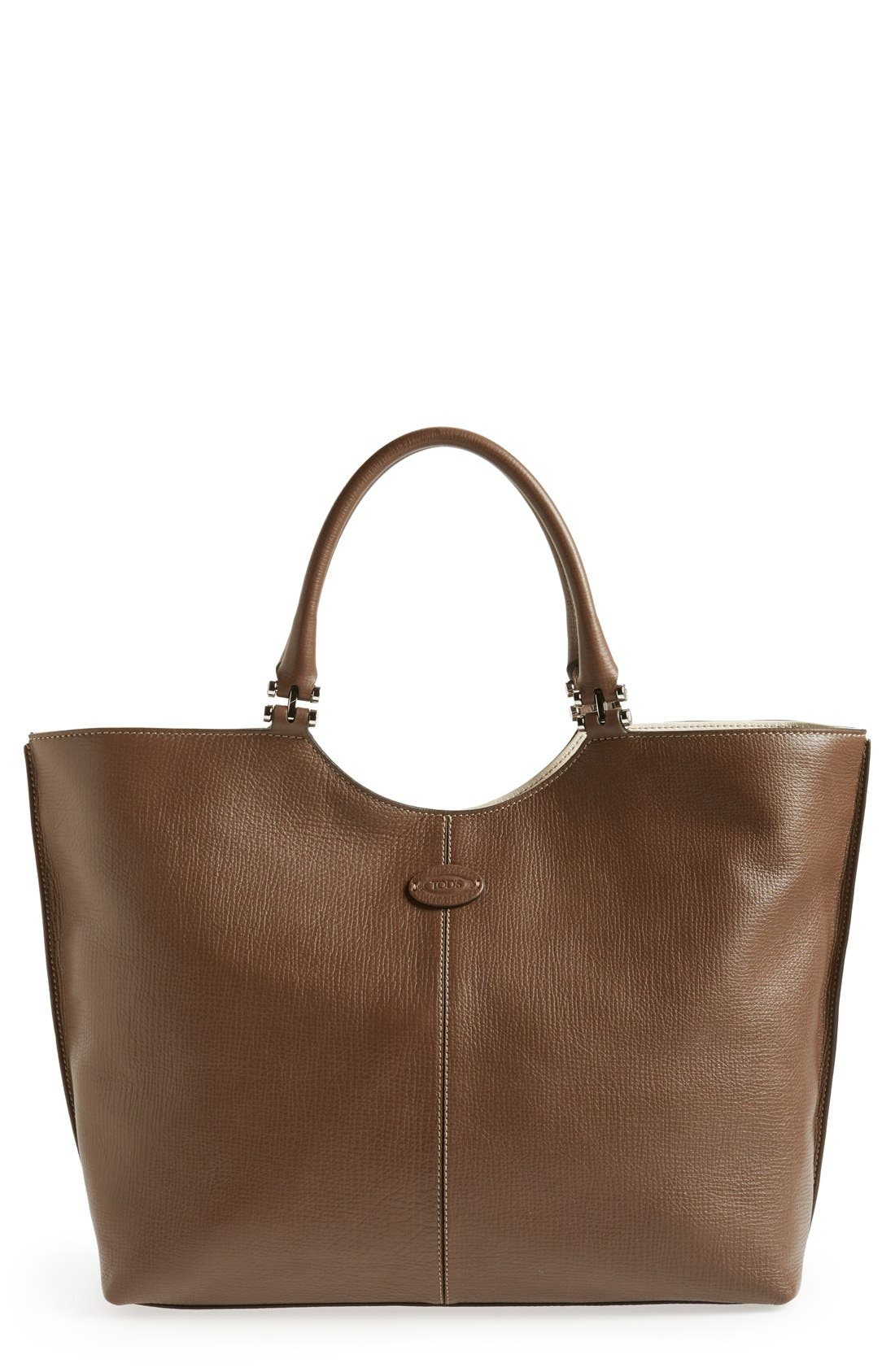 Alternate Image 1 Selected - Tod's 'Alu - Grande' Leather Shopper