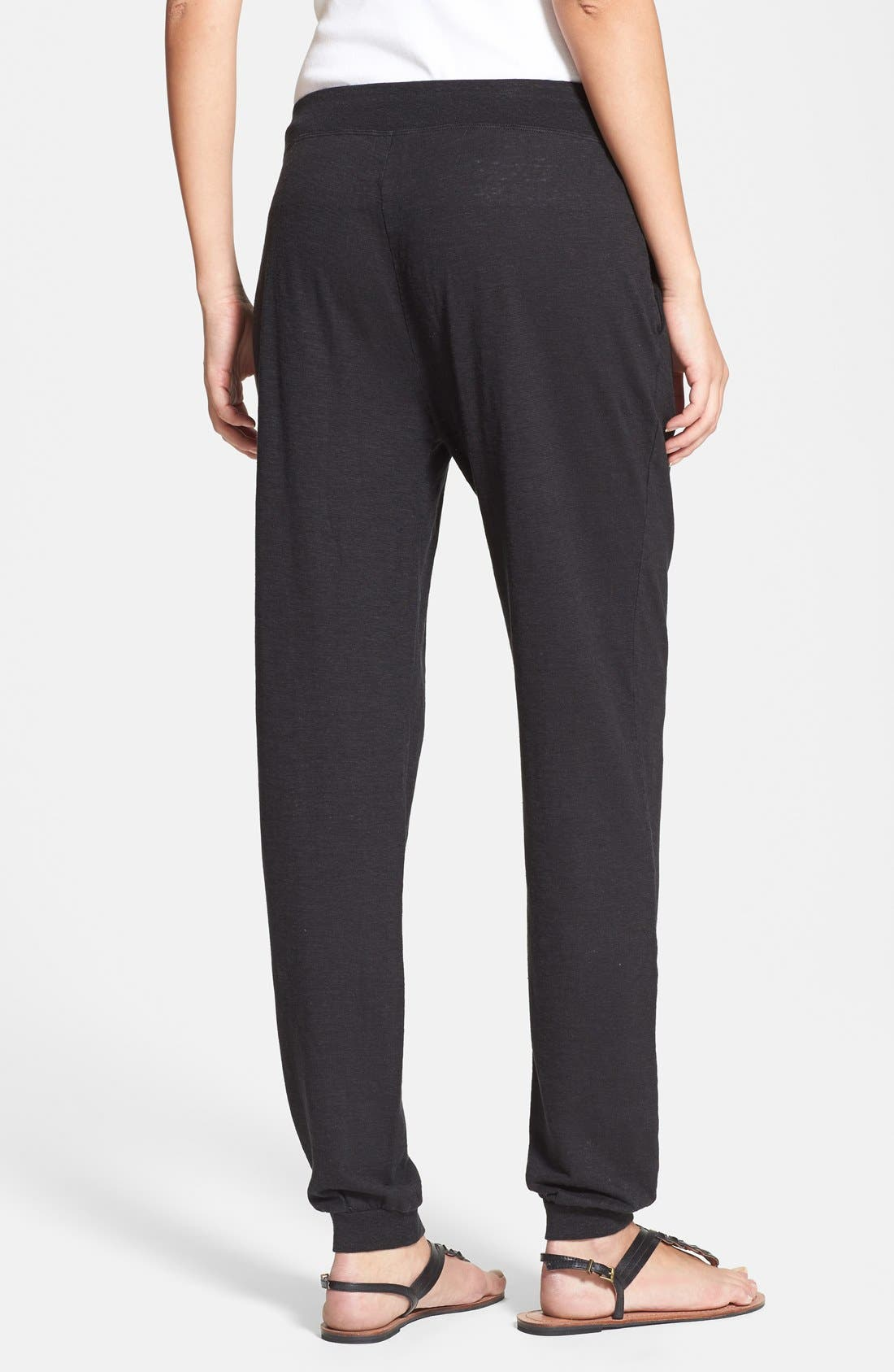 Alternate Image 2  - Eileen Fisher Pleat Front Knit Ankle Pants (Regular & Petite)