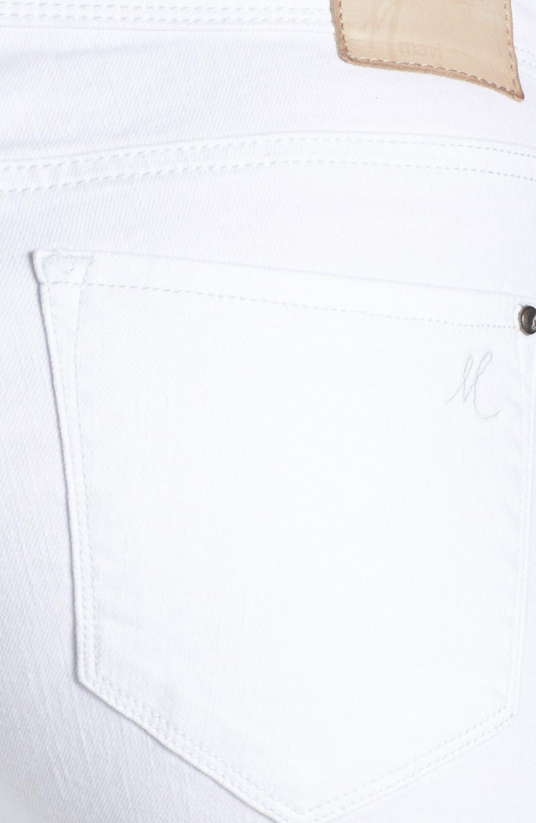Alternate Image 3  - Mavi Jeans 'Alexa' Stretch Ankle Skinny Jeans (White Nolita)