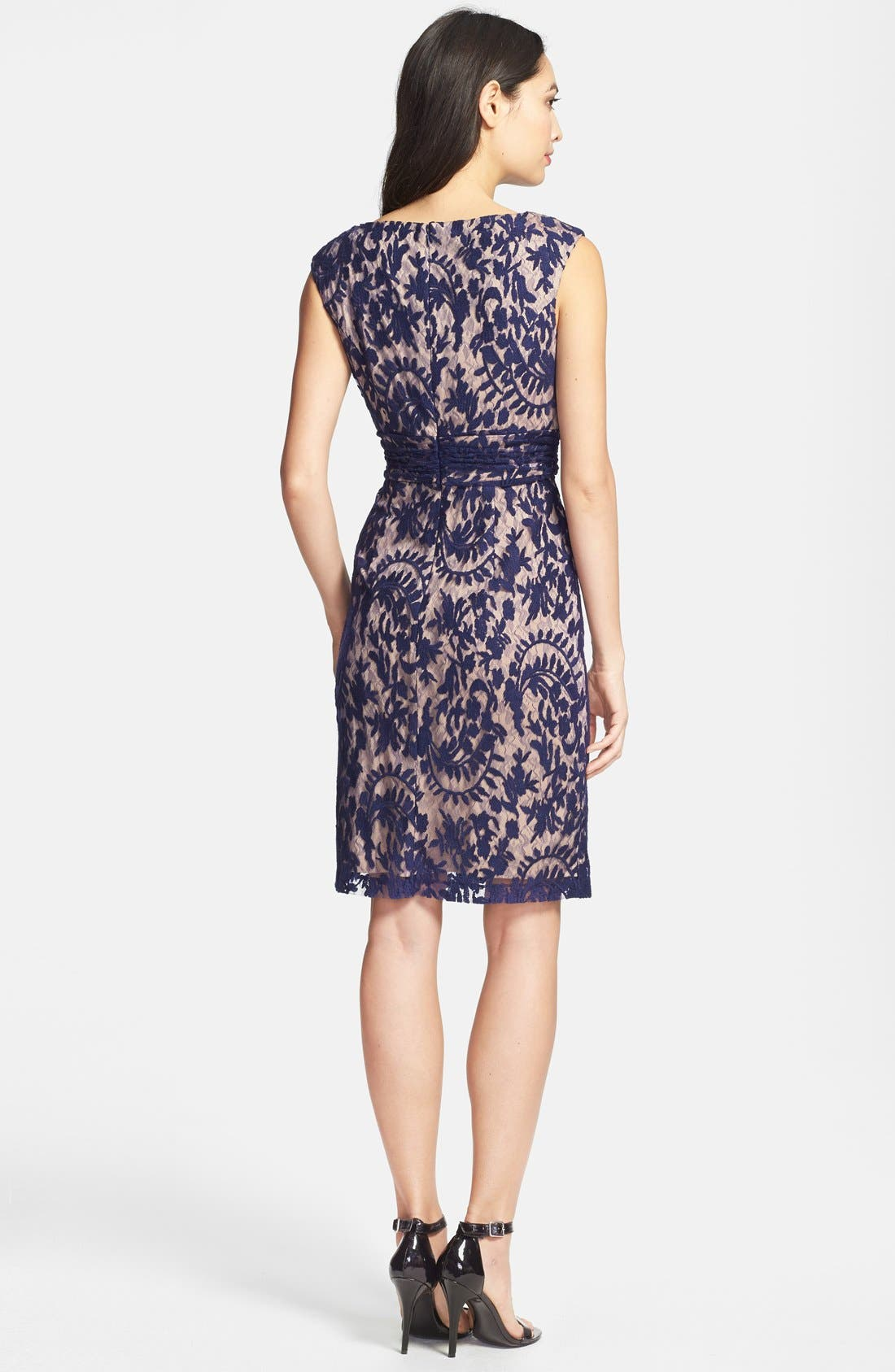 Alternate Image 3  - Adrianna Papell Lace Overlay Sheath Dress