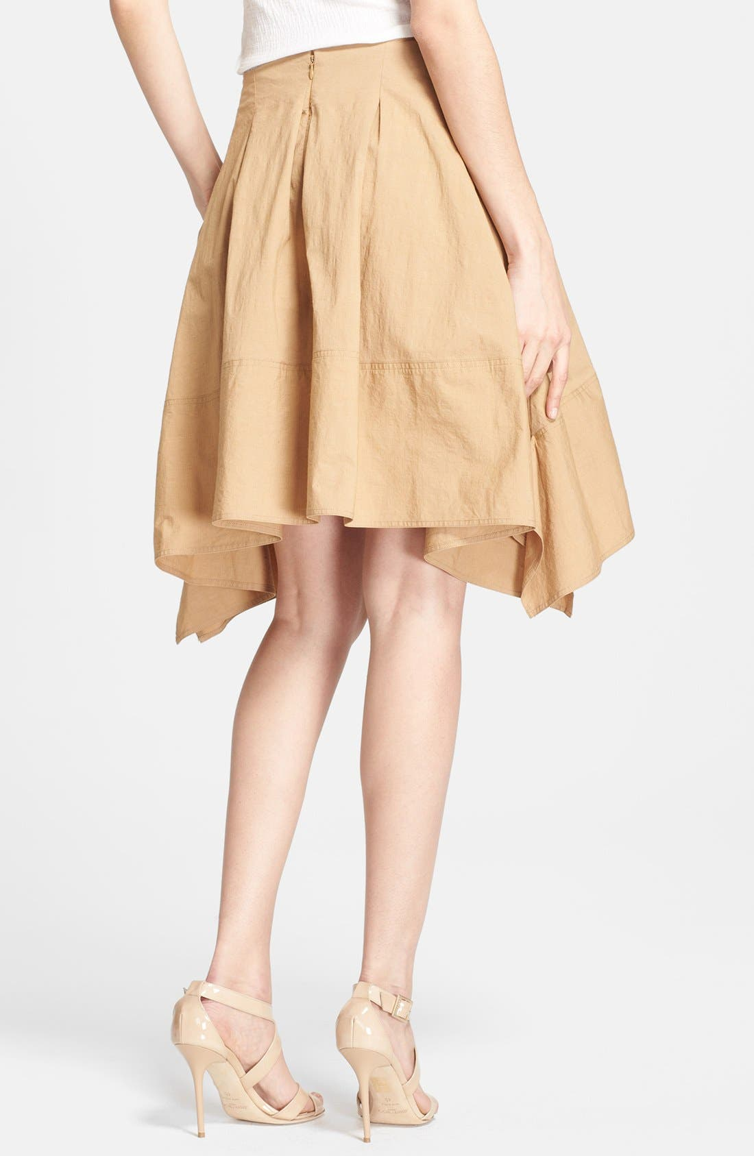 Alternate Image 2  - Donna Karan New York Pleated Poplin Skirt