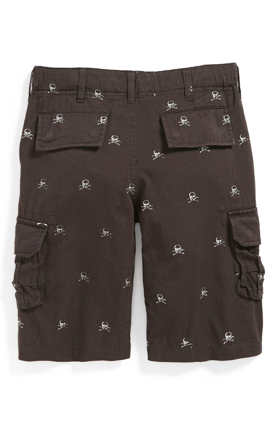 Alternate Image 2  - Peek 'Skull' Cargo Shorts (Toddler Boys, Little Boys & Big Boys)