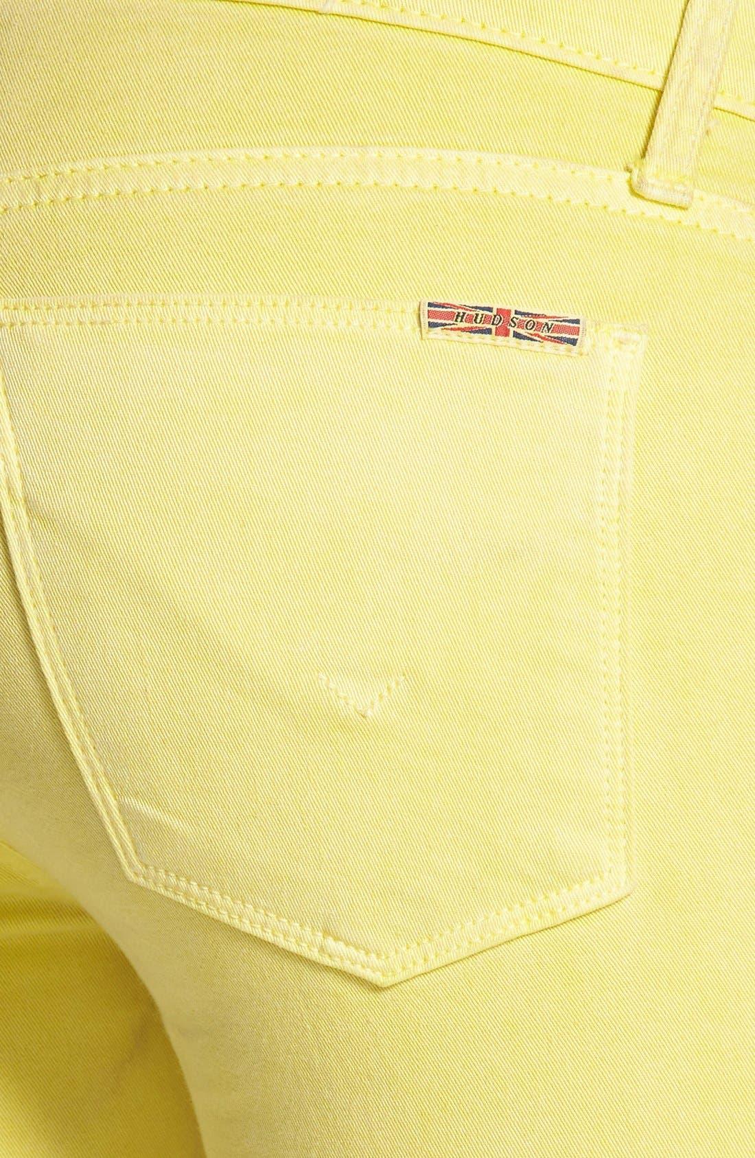 Alternate Image 3  - Hudson Jeans Crop Super Skinny Jeans (Goldmine)