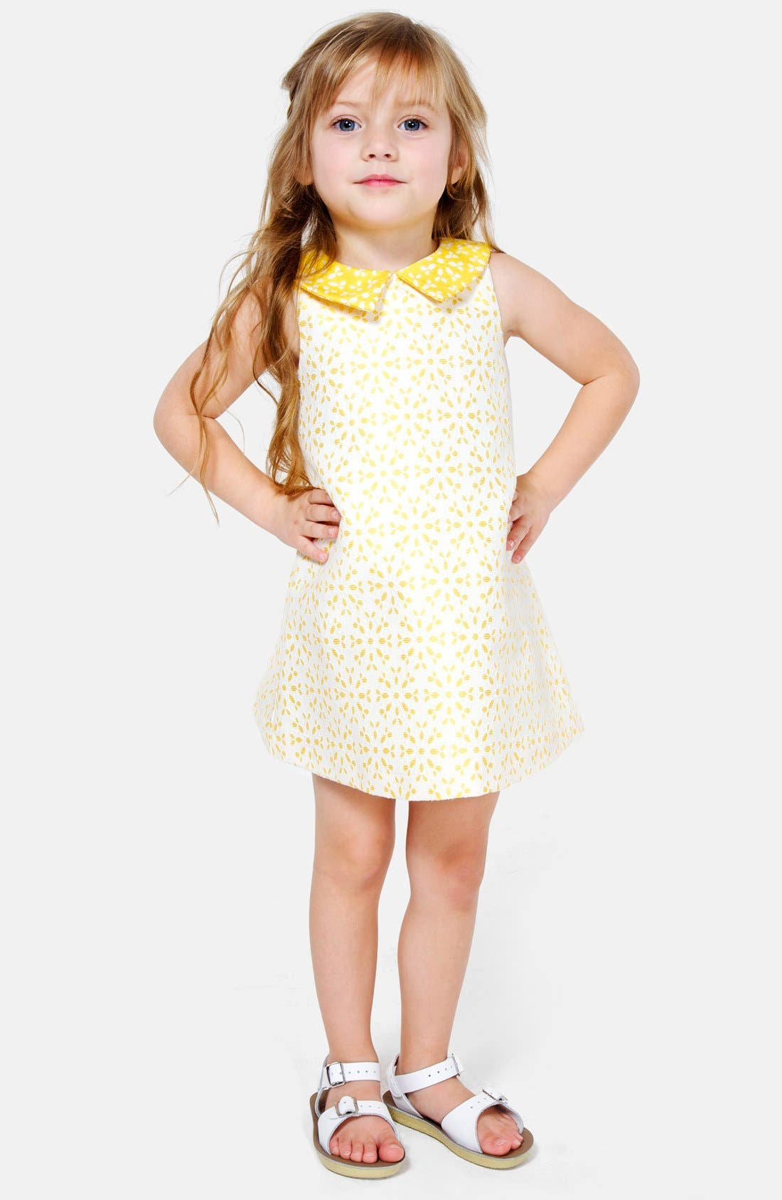 Alternate Image 1 Selected - Pippa & Julie Jacquard Shift Dress (Toddler Girls)