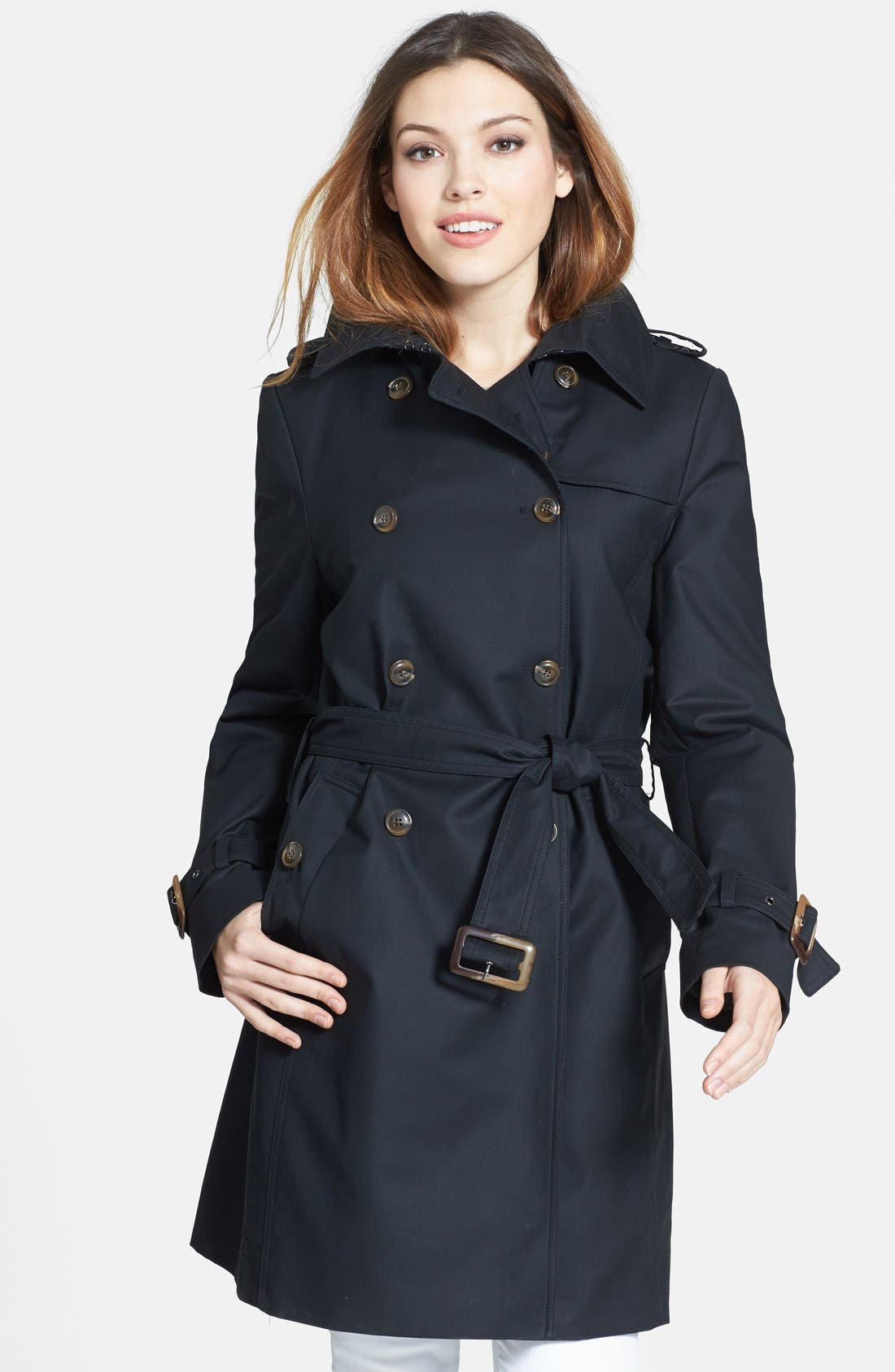 Alternate Image 1 Selected - Trina Turk Double Breasted Trench Coat