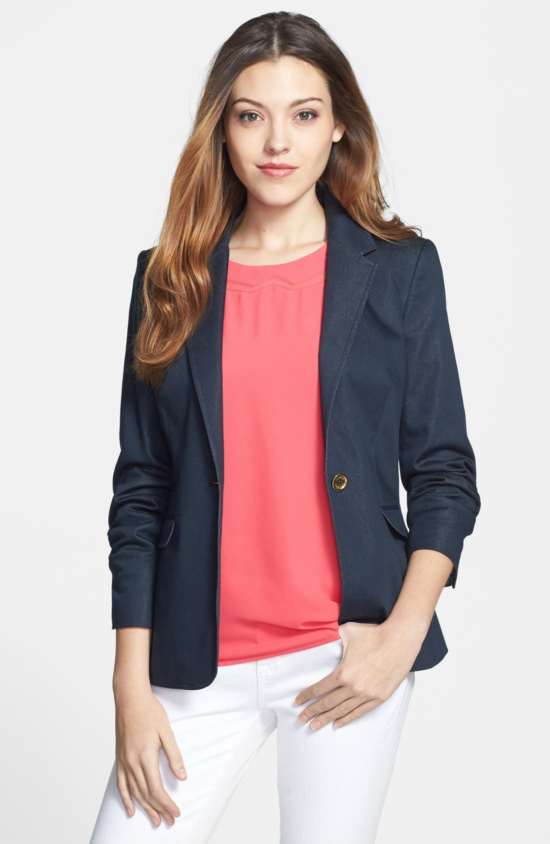 Alternate Image 1 Selected - Vince Camuto 'Smart Denim' Single-Button Blazer