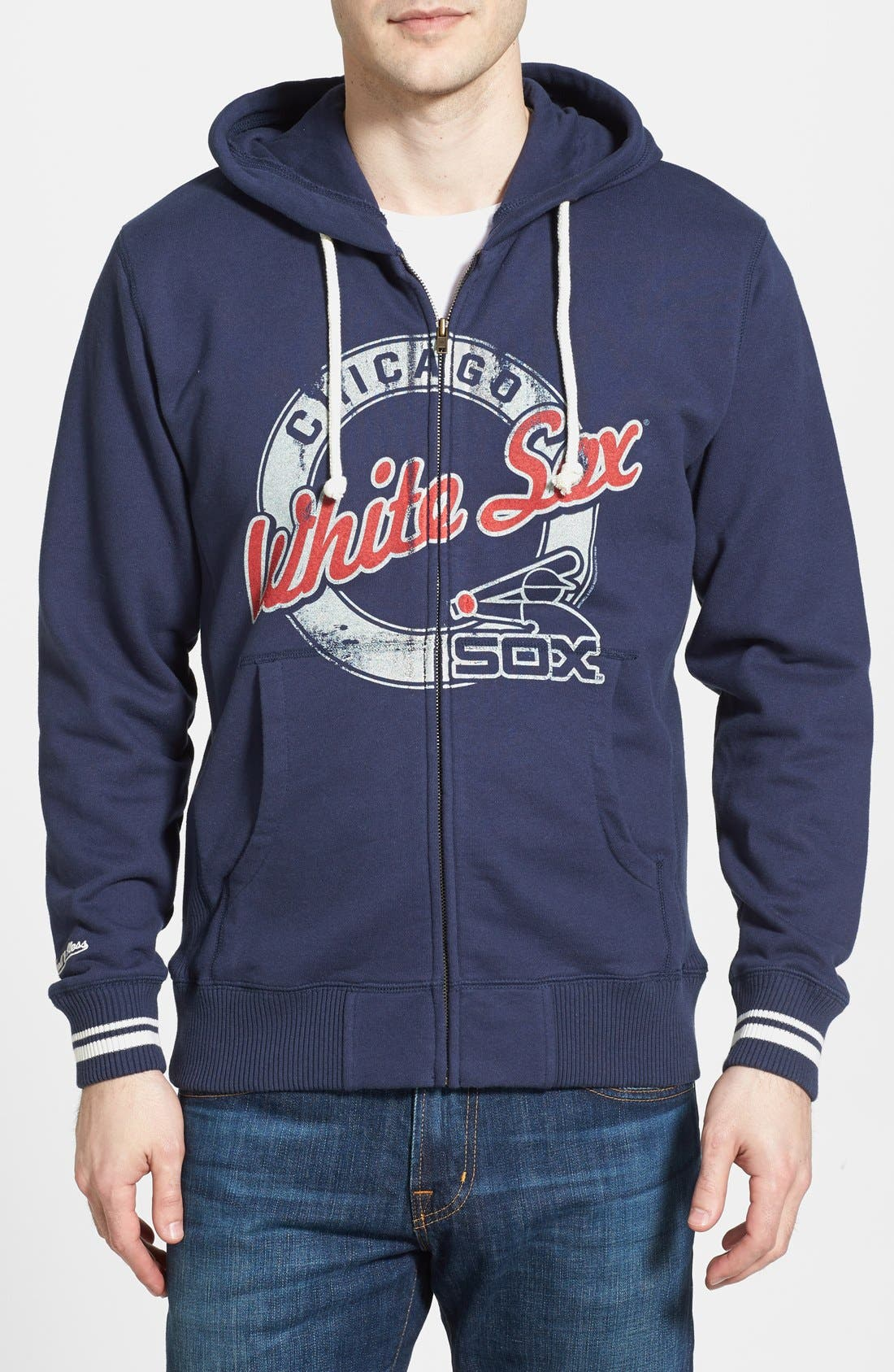 Alternate Image 1 Selected - Mitchell & Ness 'Chicago White Sox' Full Zip Hoodie
