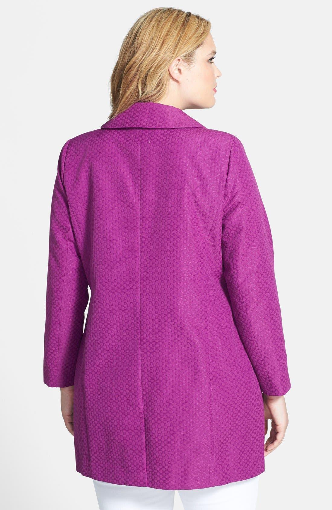 Alternate Image 2  - Sejour Jacquard Topper Jacket (Plus Size)