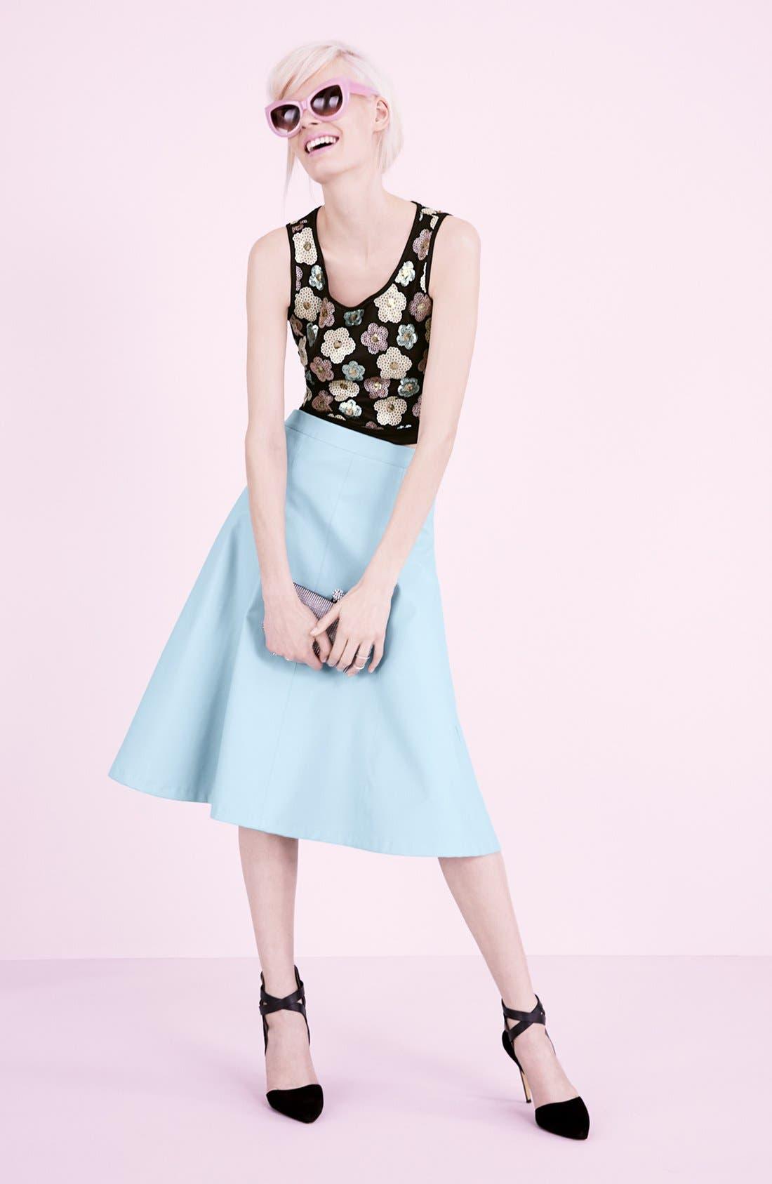 Alternate Image 4  - Tildon Sequin Floral Crop Top