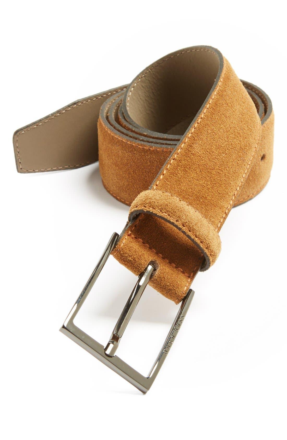 Main Image - BOSS HUGO BOSS 'Calindo' Suede Belt