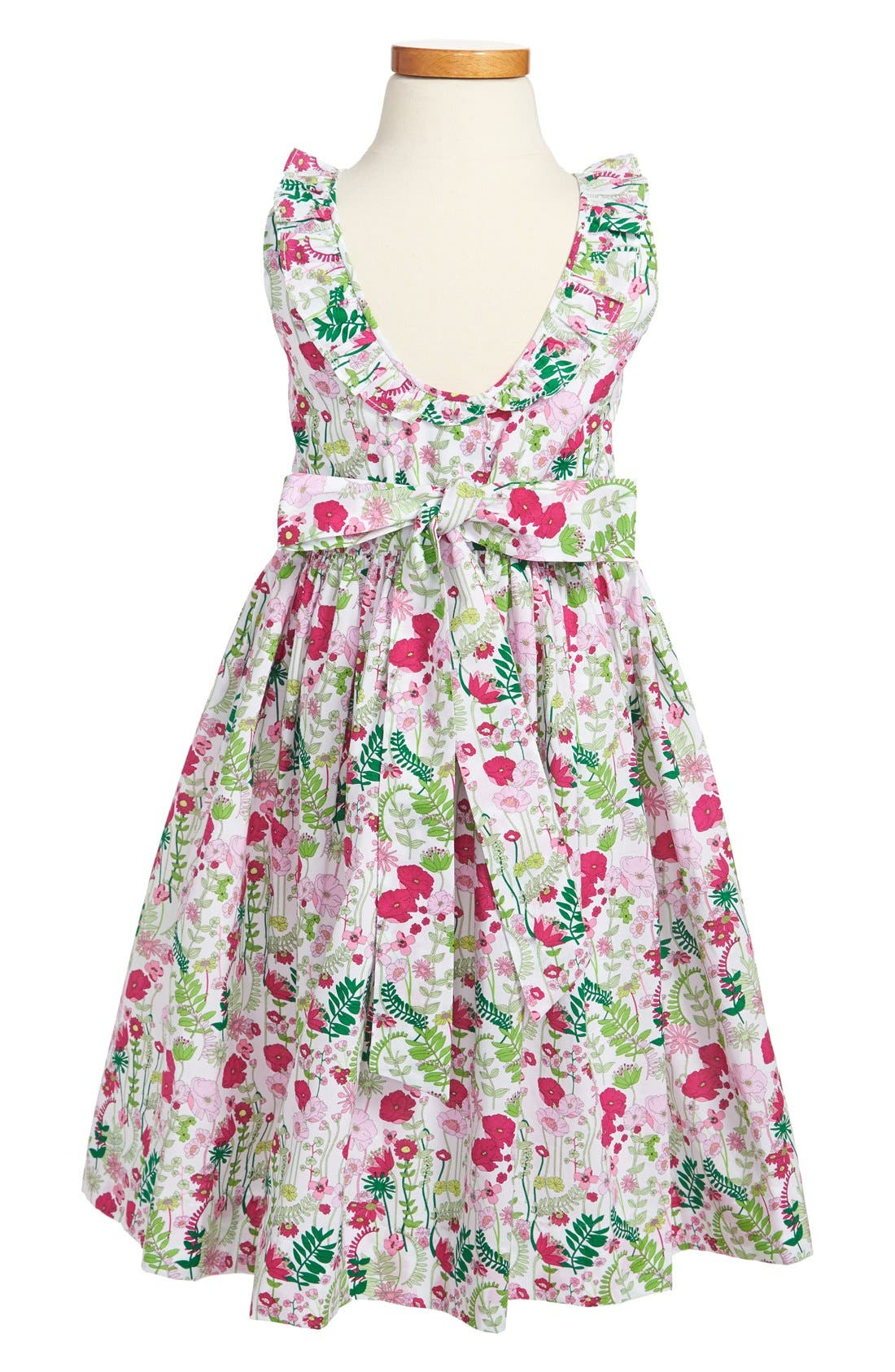Alternate Image 2  - Oscar de la Renta Ruffle Collar Dress (Little Girls & Big Girls)