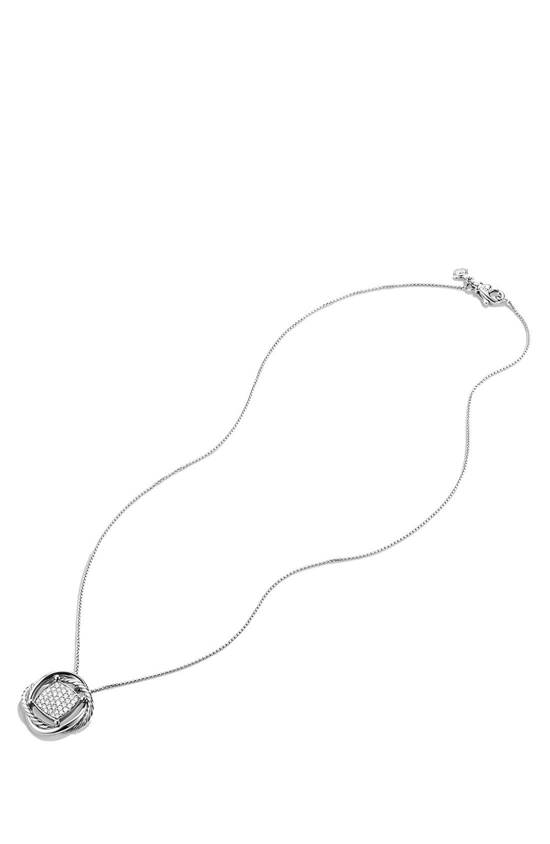 Alternate Image 2  - David Yurman 'Infinity' Pendant with Diamonds on Chain