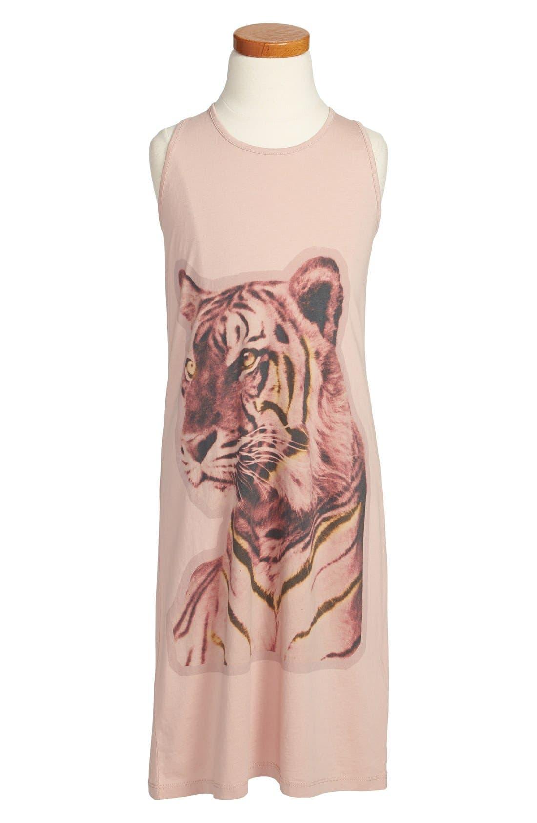 Alternate Image 1 Selected - Stella McCartney 'Mia' Tiger Screenprint Tank Dress (Toddler Girls, Little Girls & Big Girls)
