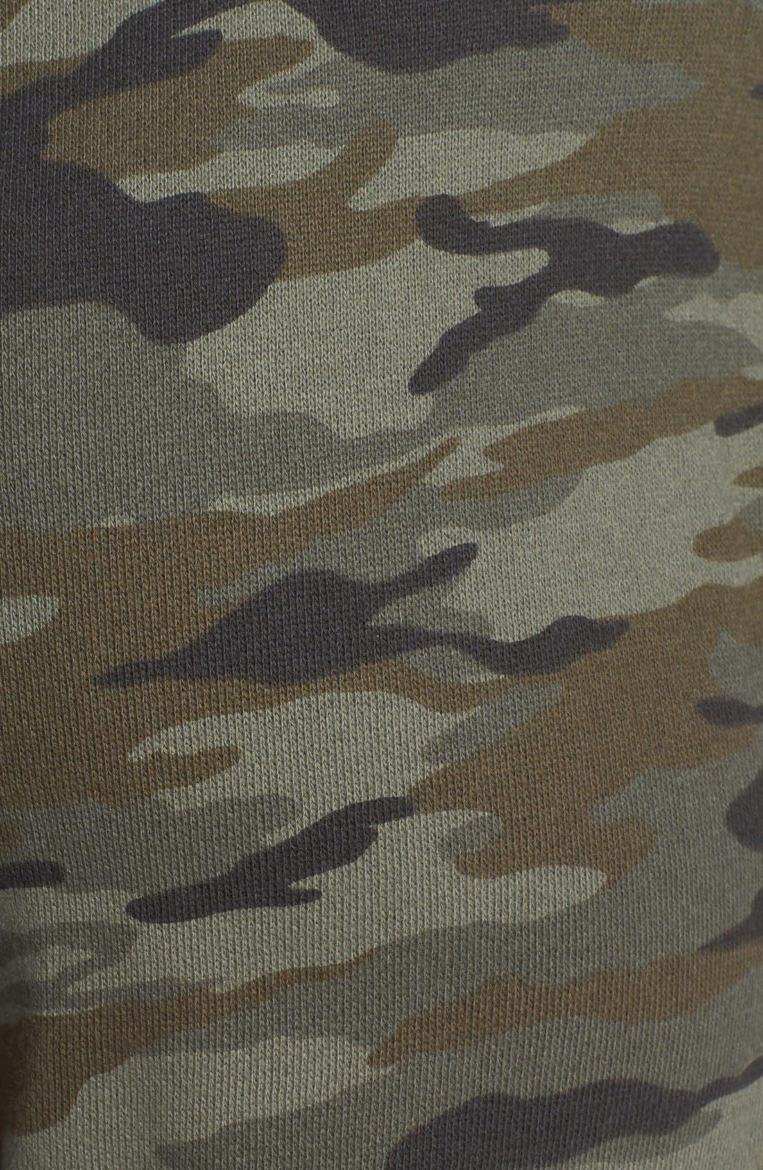Alternate Image 3  - Lucky Brand Camo Print Crop Skinny Knit Pants