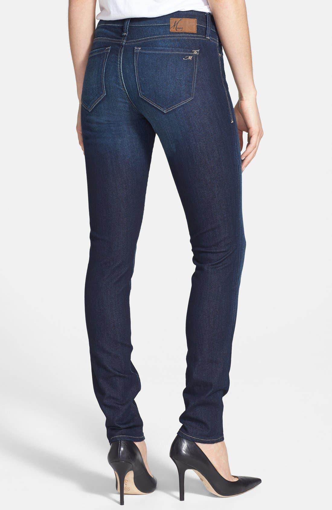 Alternate Image 2  - Mavi Jeans 'Adriana' Skinny Jeans (Deep Nolita)