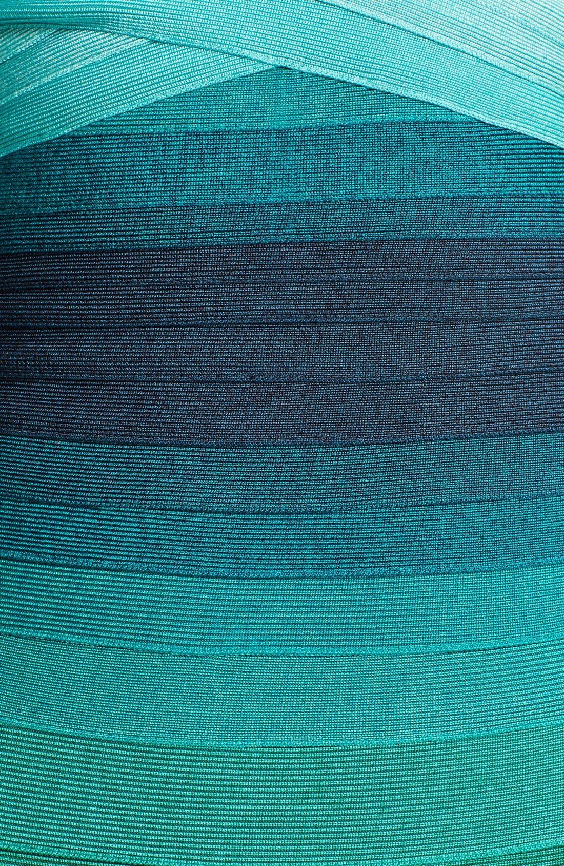 Alternate Image 3  - Herve Leger Ombré Strapless Bandage Dress