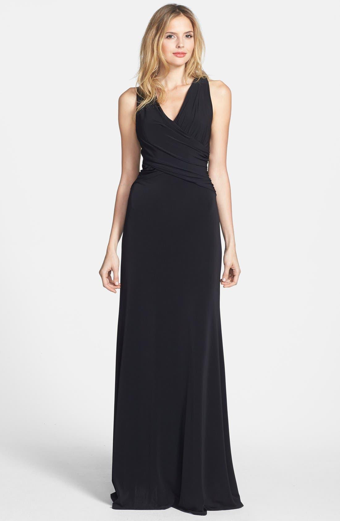 Main Image - Vera Wang Open Back Long Jersey Dress