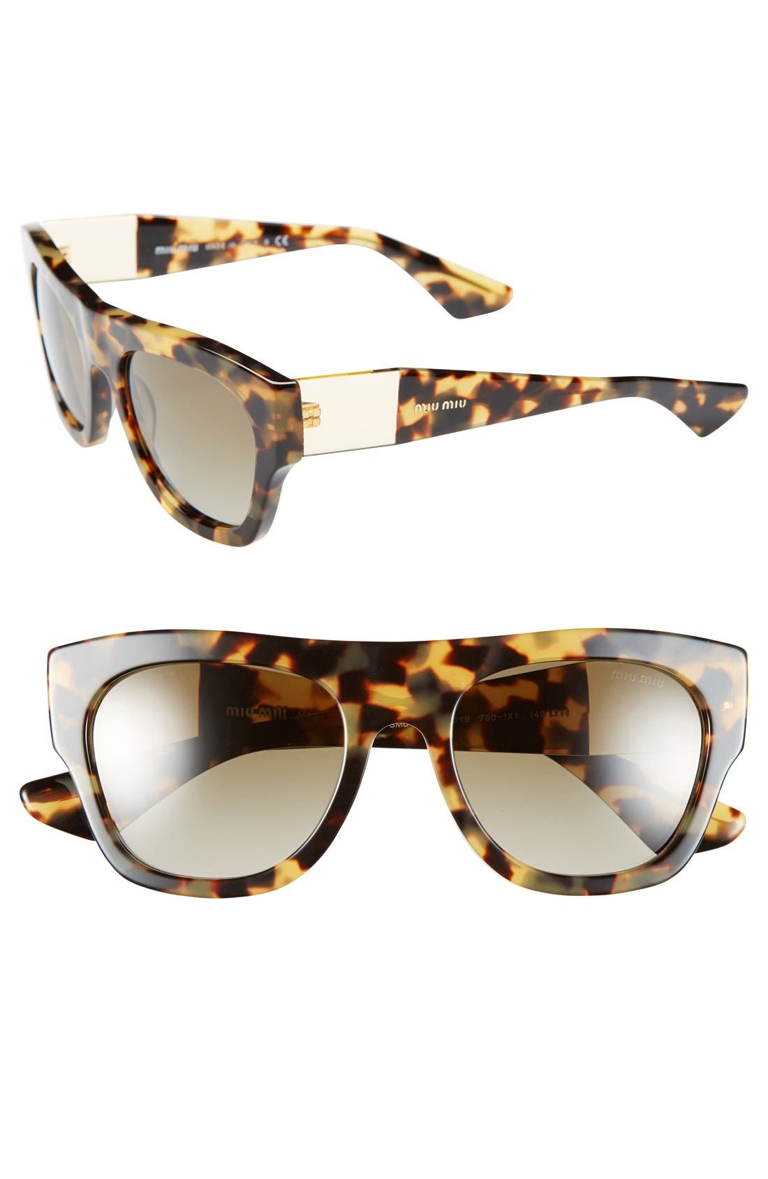 Alternate Image 1 Selected - Miu Miu 52mm Retro Sunglasses