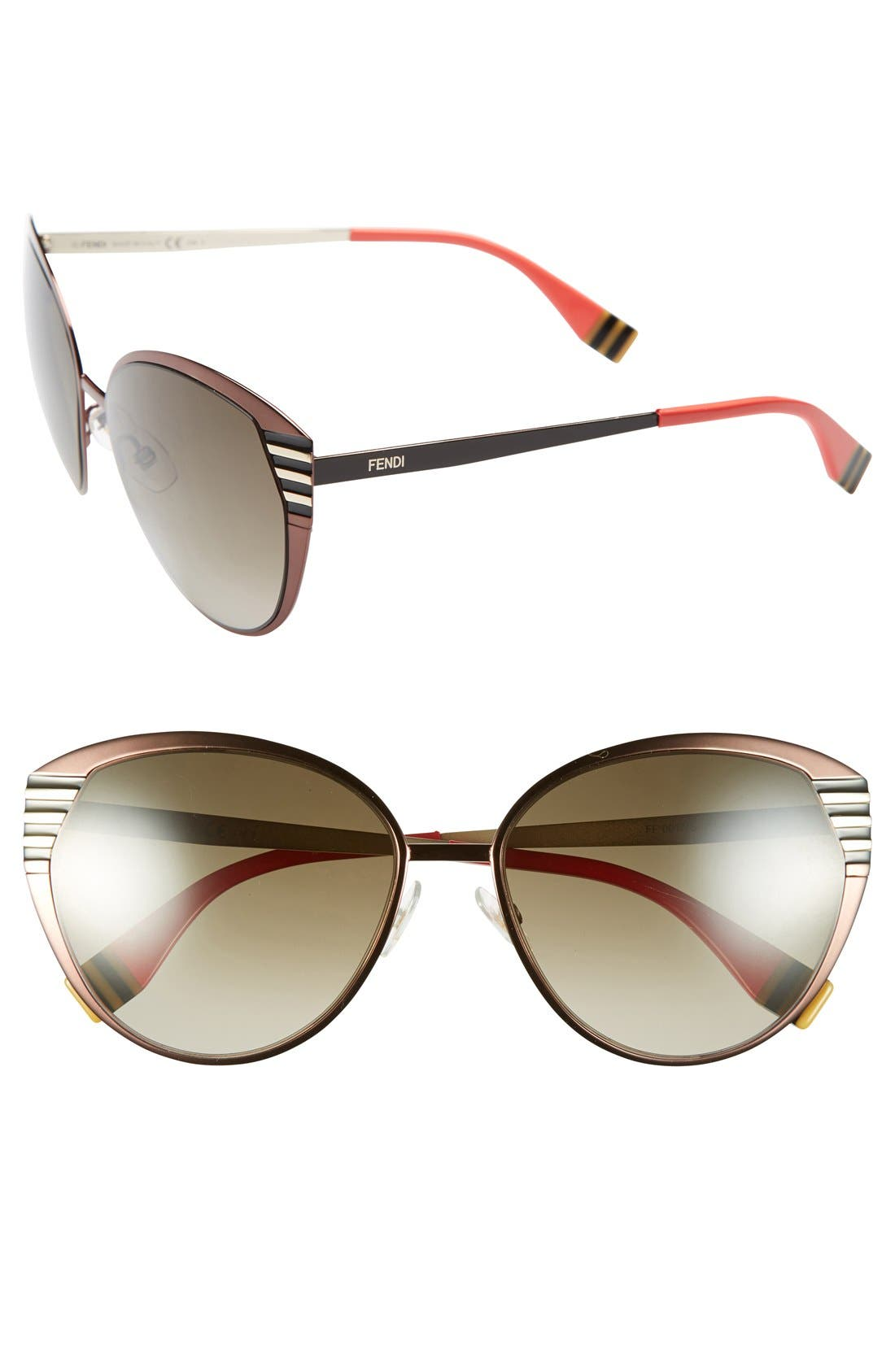 Main Image - Fendi 57mm Oversized Sunglasses