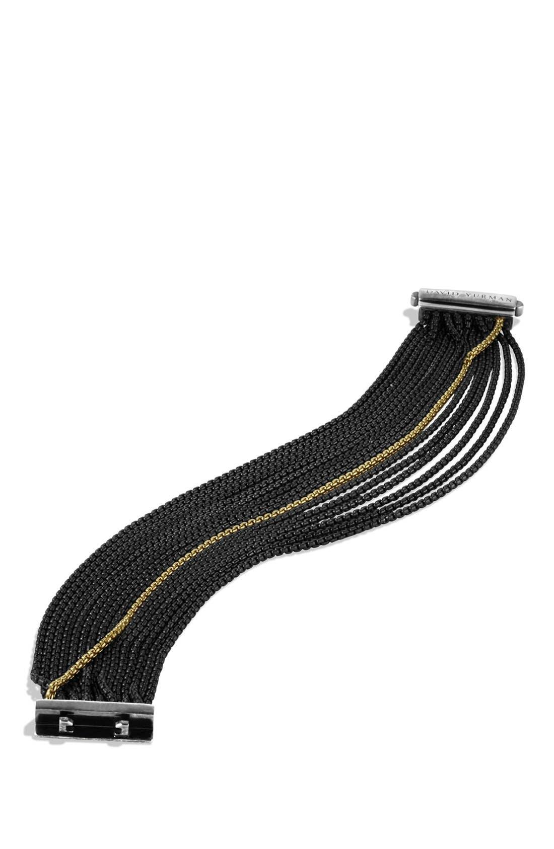 Alternate Image 2  - David Yurman Sixteen-Row Chain Bracelet with Gold