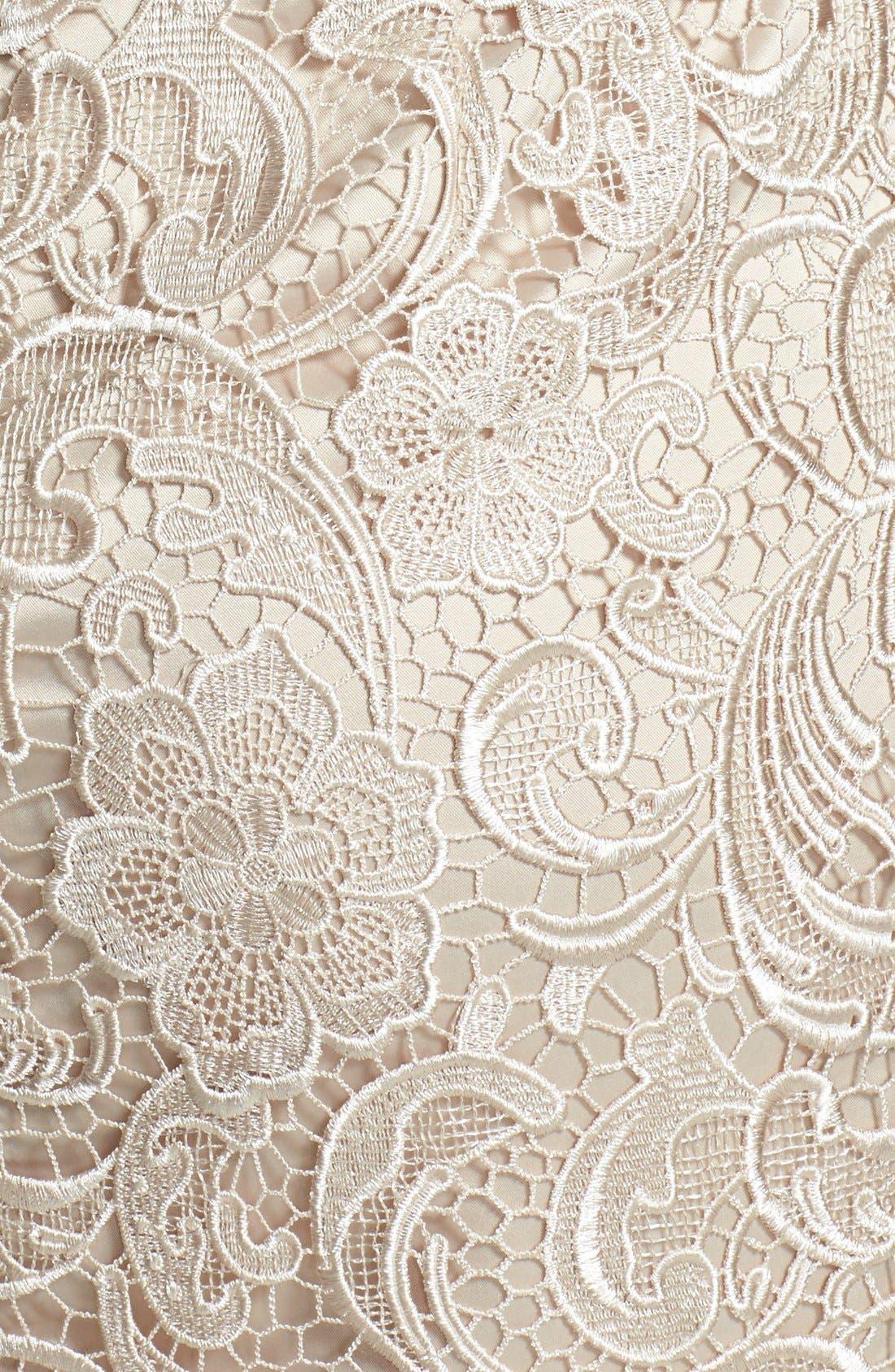 Alternate Image 3  - Adrianna Papell Strapless Lace Sheath Dress