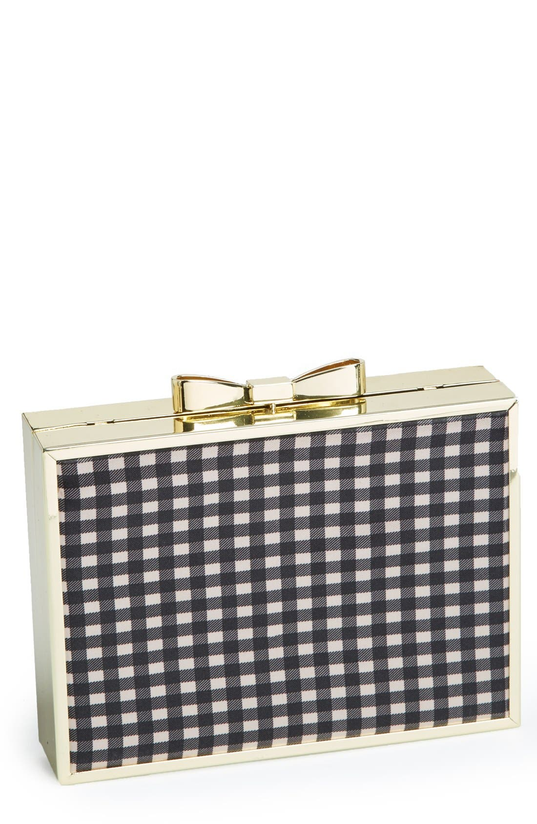 Alternate Image 1 Selected - Betsey Johnson Bow Lock Frame Clutch