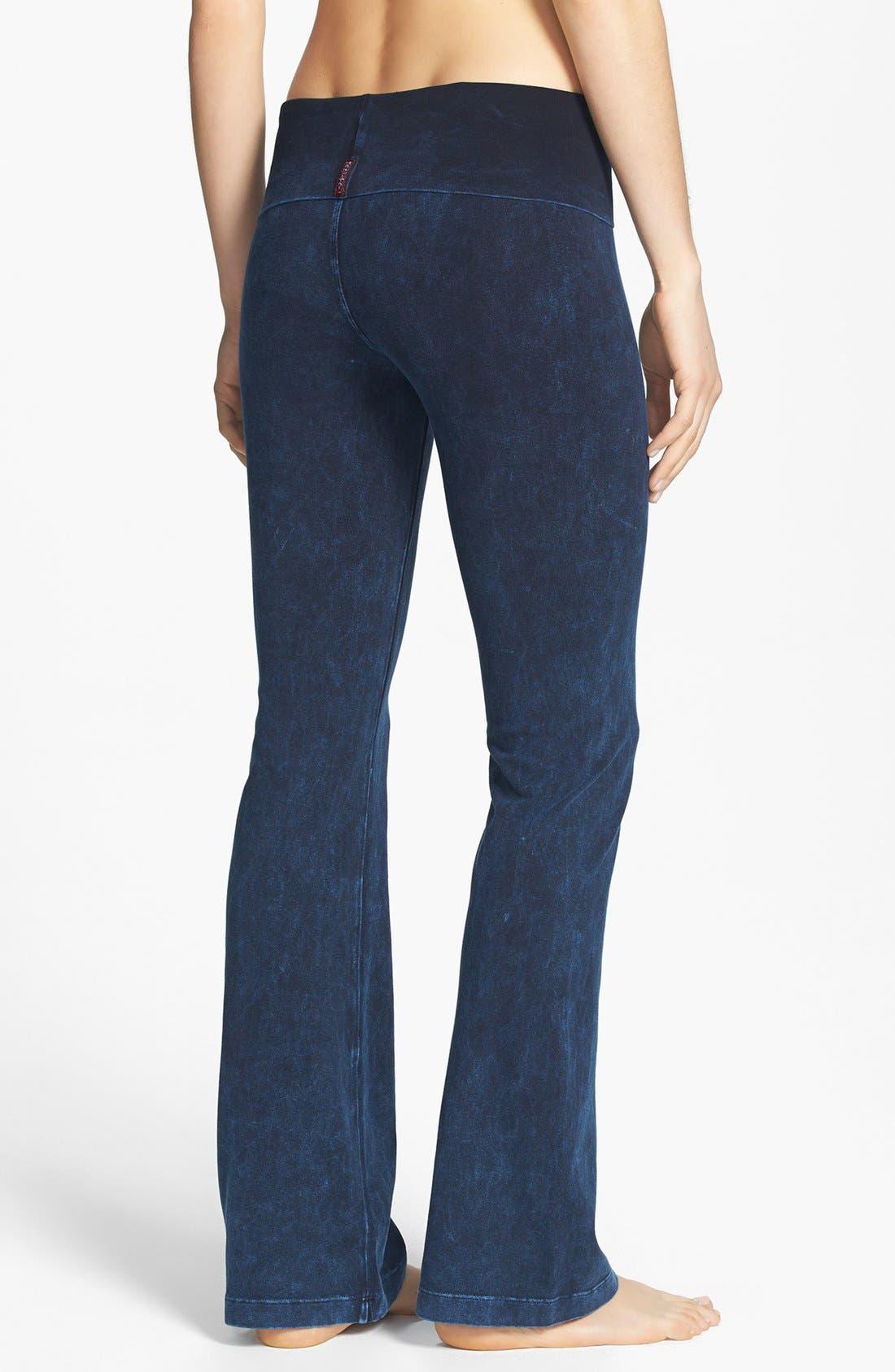 Alternate Image 2  - Hard Tail Roll Waist Bootleg Flare Pants