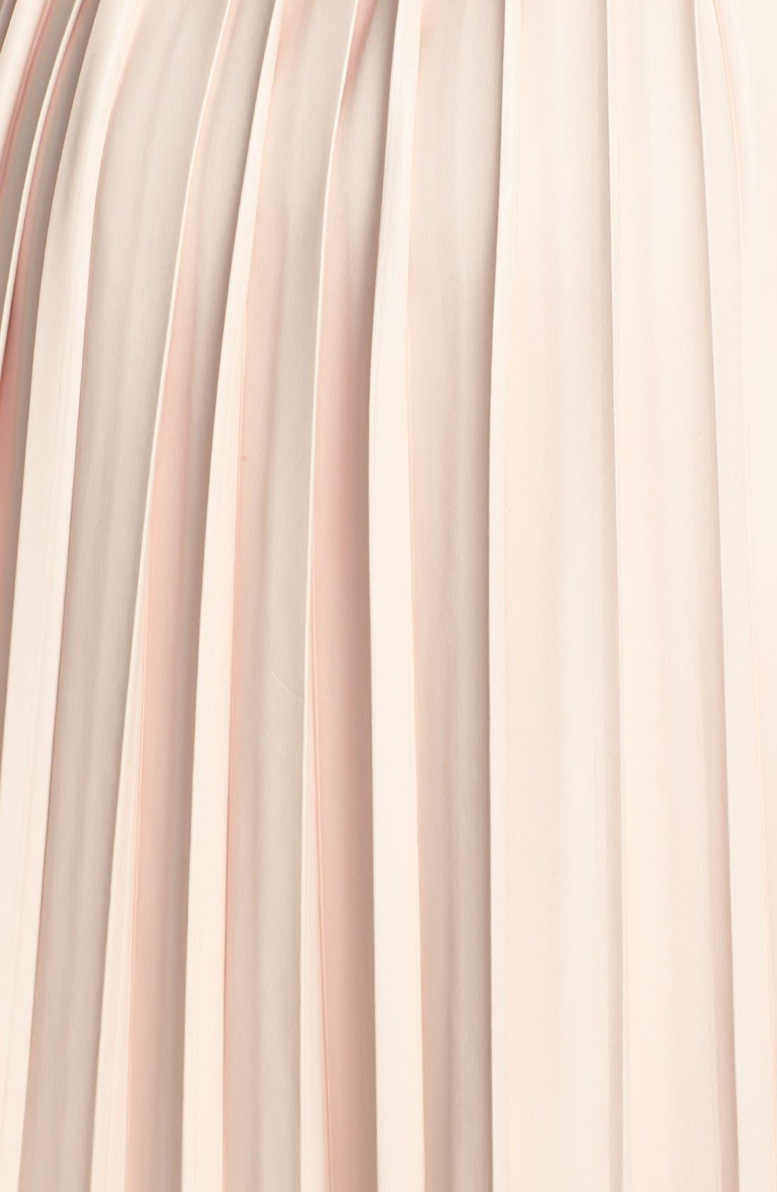 Alternate Image 3  - Pink Tartan Faux Leather Pleat Skirt