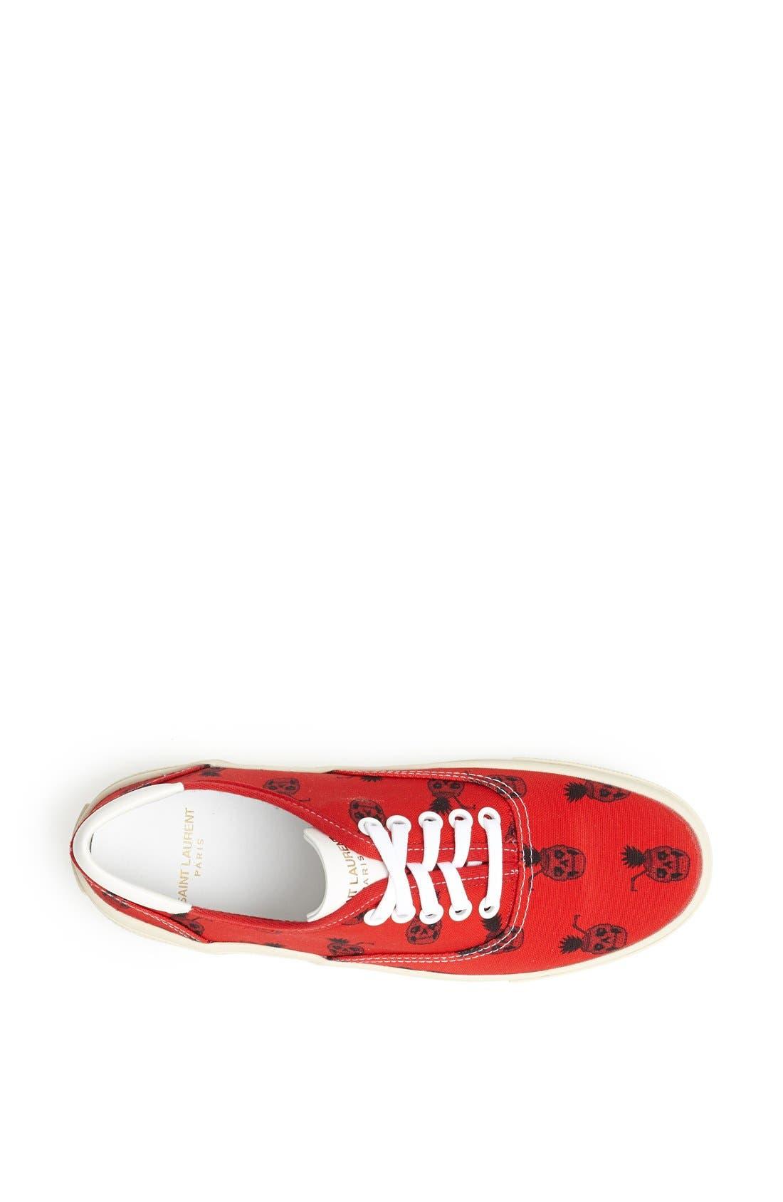 Alternate Image 3  - Saint Laurent 'Pinaskullada' Skull Print Sneaker