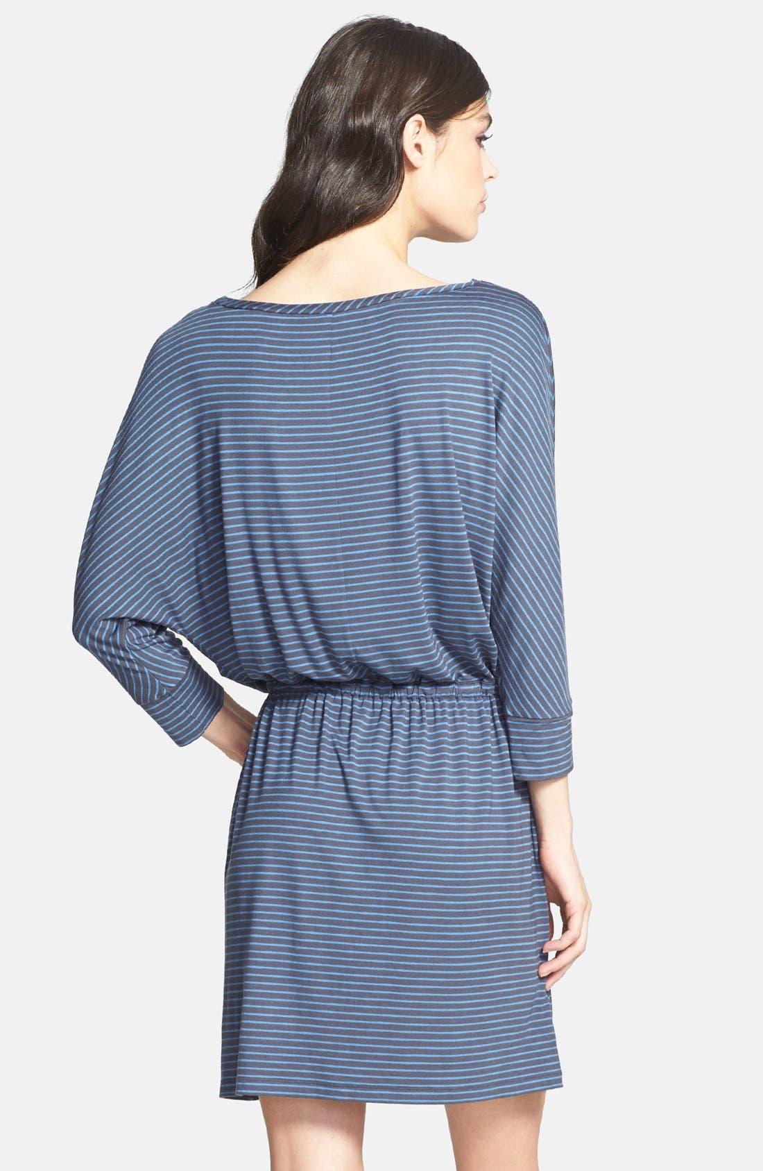 Alternate Image 2  - Caslon® Three Quarter Sleeve Round Neck Stretch Knit Dress (Regular & Petite)