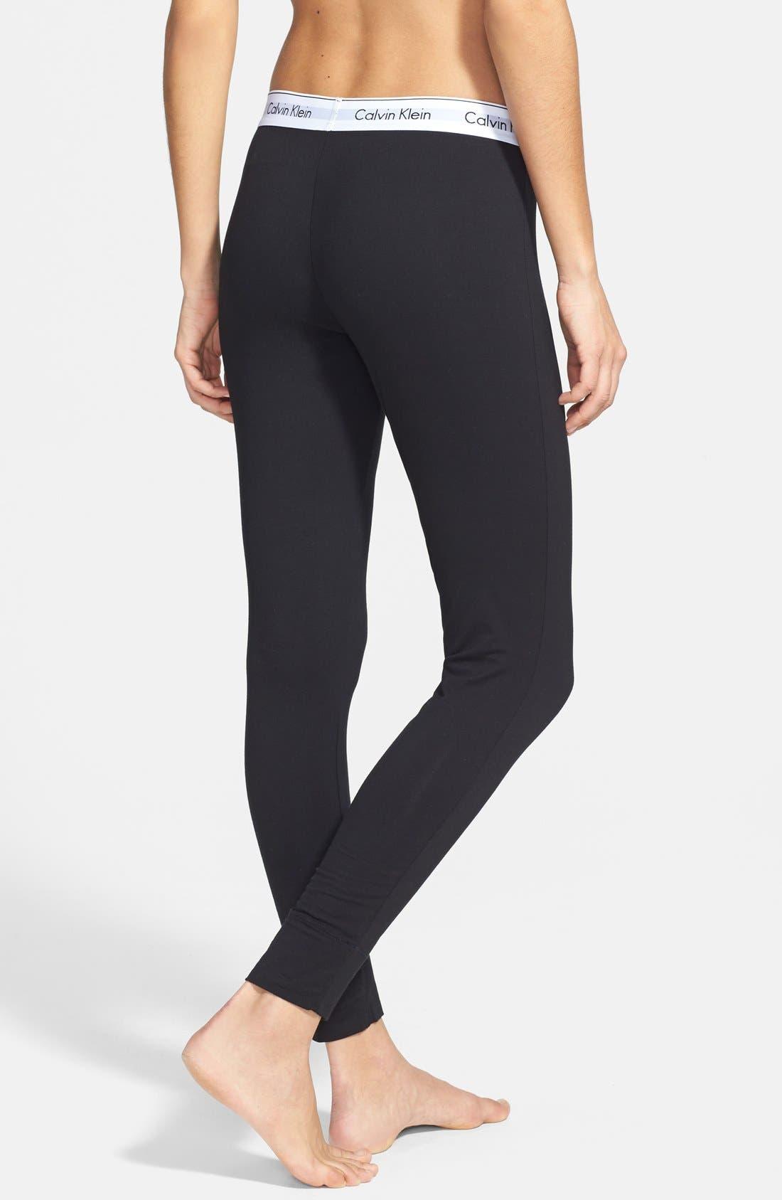 Modern Cotton Lounge Pants,                             Alternate thumbnail 2, color,                             Black