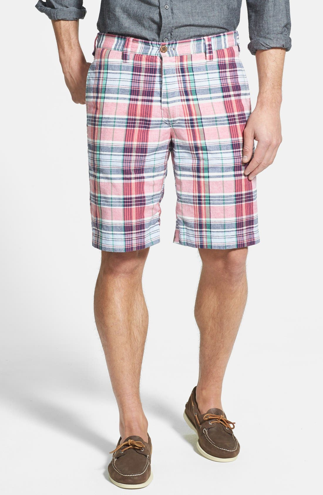 Alternate Image 1 Selected - Tailor Vintage Plaid Reversible Shorts