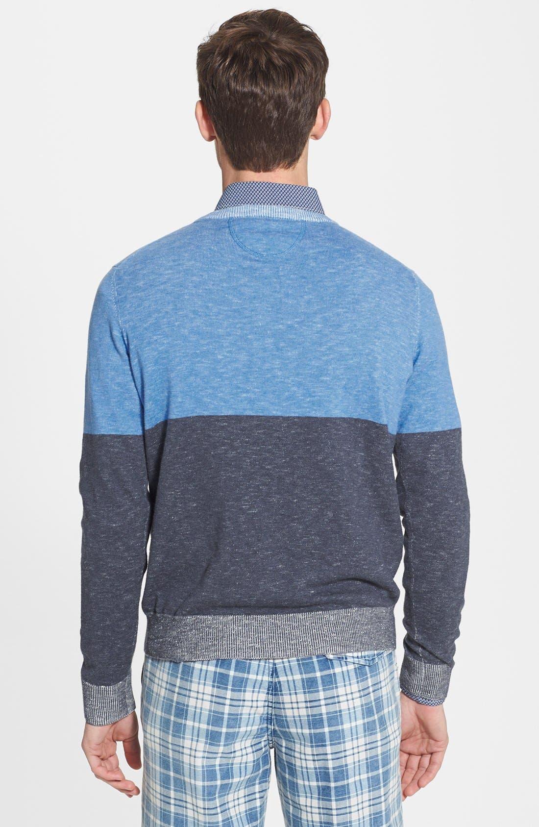 Alternate Image 2  - Grayers 'Onlan' Colorblock Trim Fit Crewneck Sweater