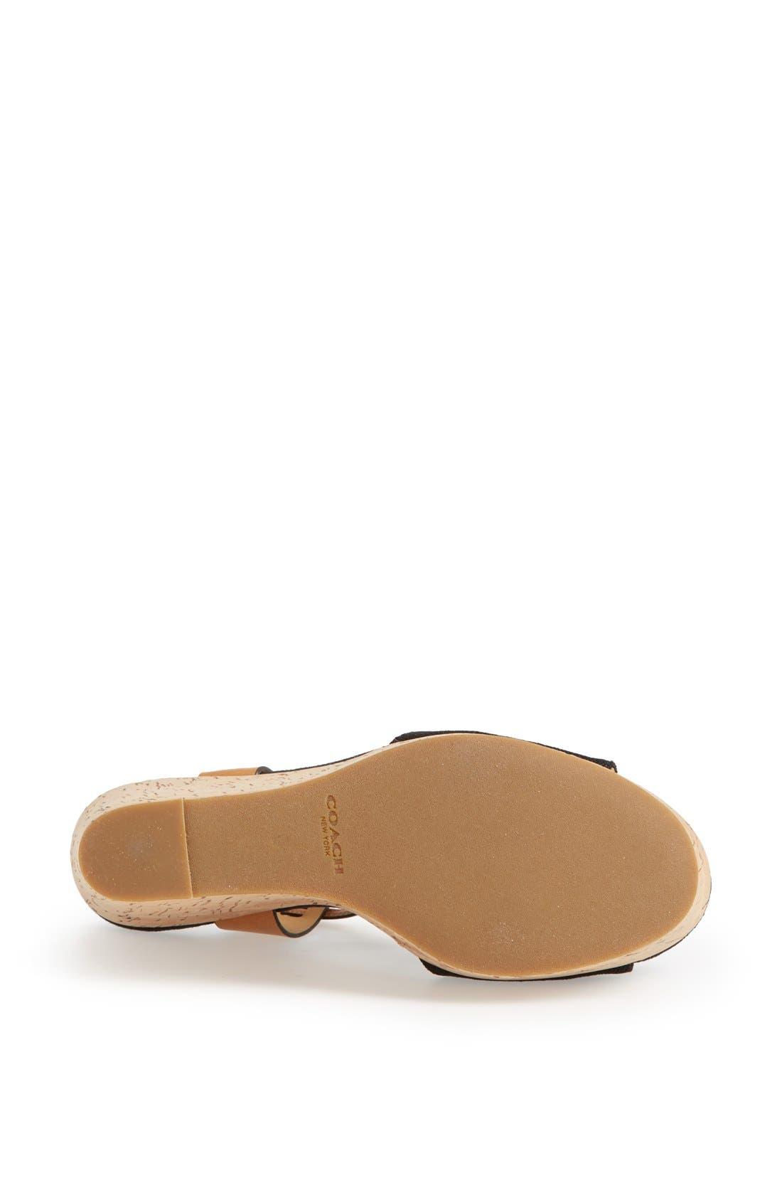 Alternate Image 4  - COACH 'Linden' Wedge Platform Sandal