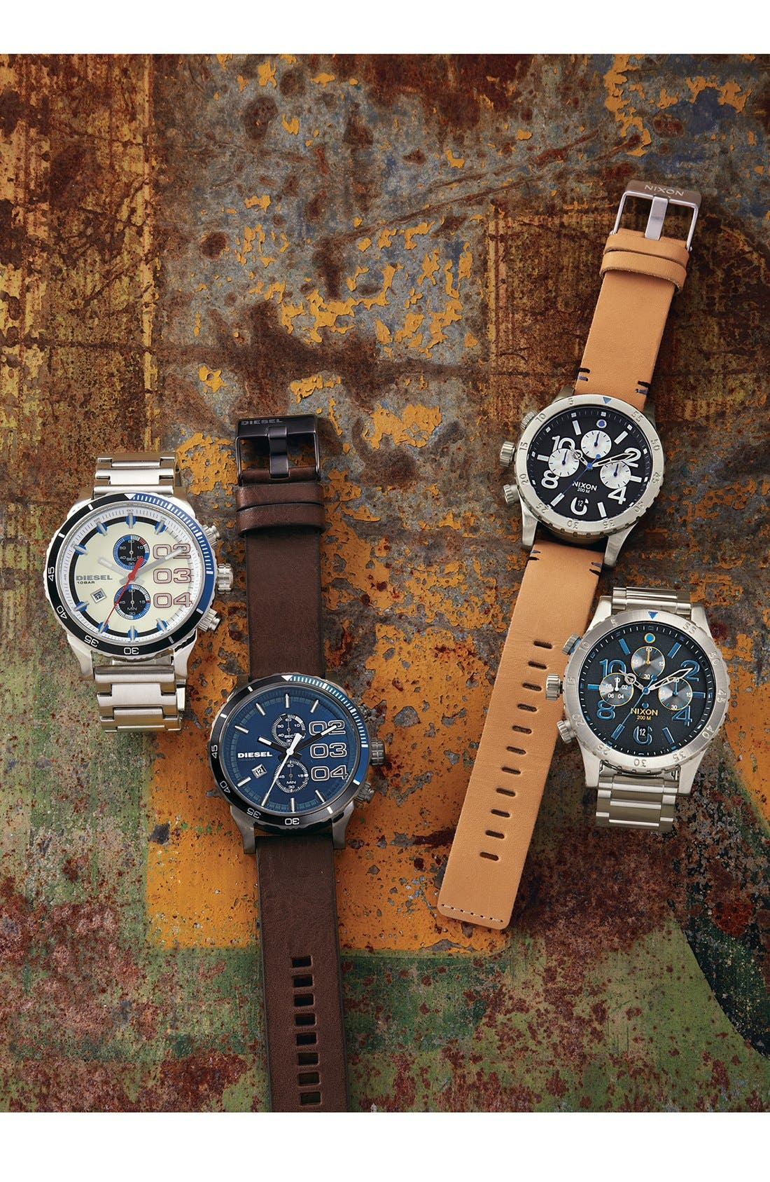 'The 48-20' Chronograph Leather Strap Watch, 48mm,                             Alternate thumbnail 3, color,