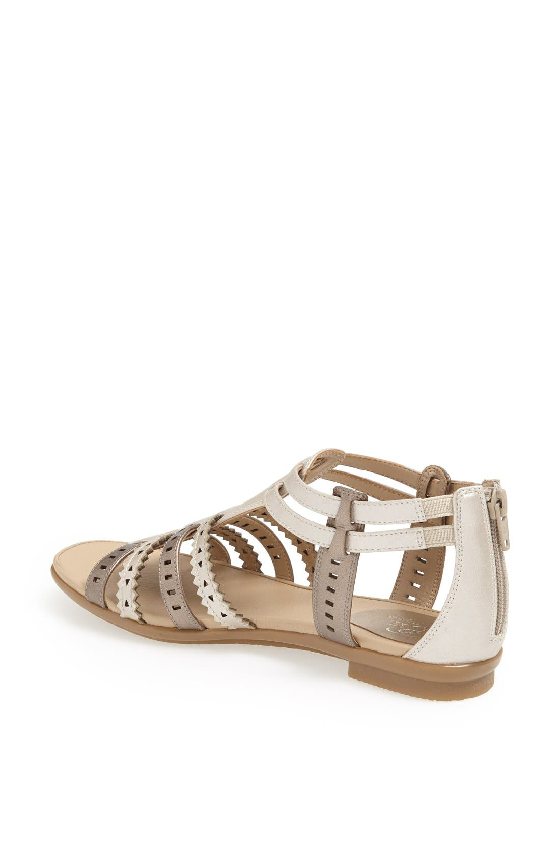 Alternate Image 2  - Easy Spirit 'e360 - Karelly' Pinked & Perforated Leather Back Zip Sandal (Women)