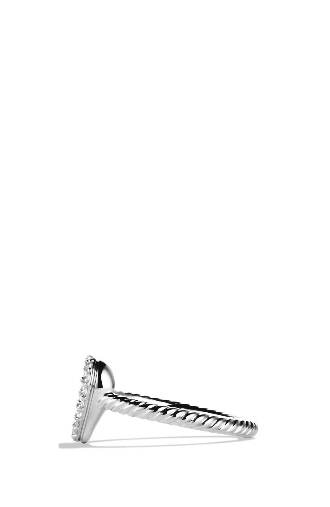 Alternate Image 3  - David Yurman 'Cable Collectibles' Heart Ring with Diamonds