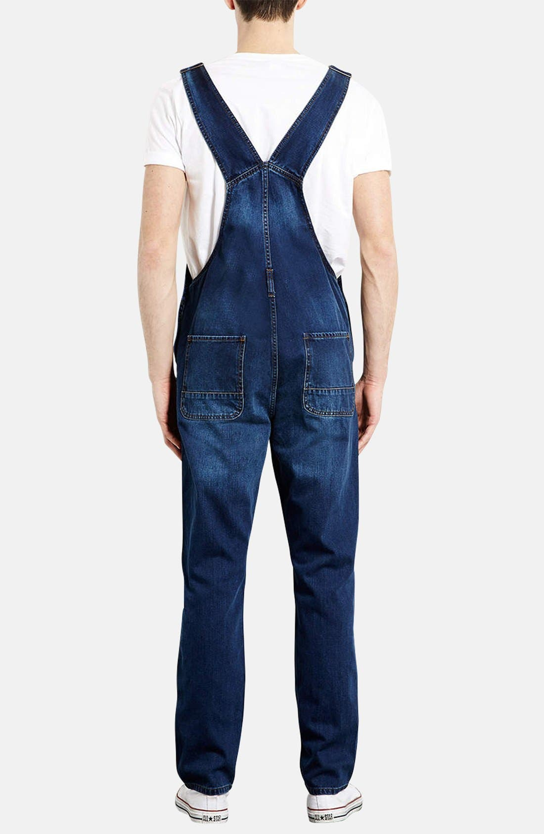 Alternate Image 2  - Topman Denim Overalls