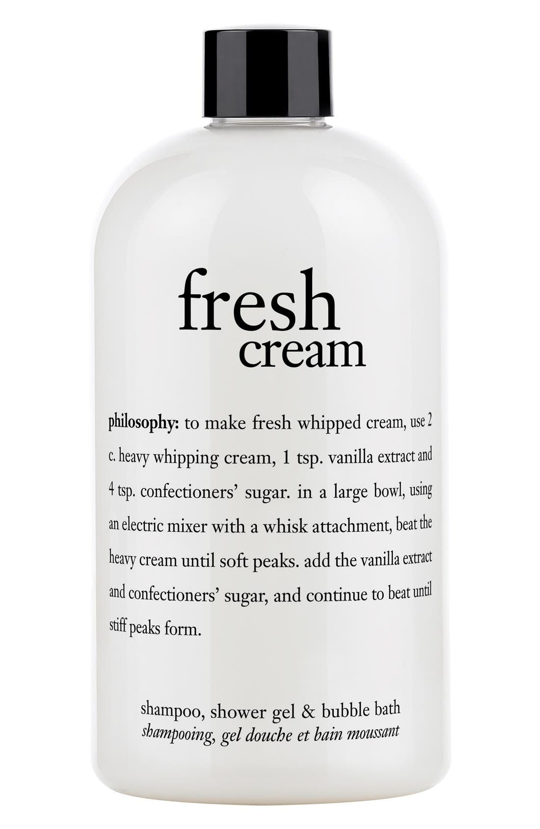 philosophy 'fresh cream' shampoo, shower gel & bubble bath