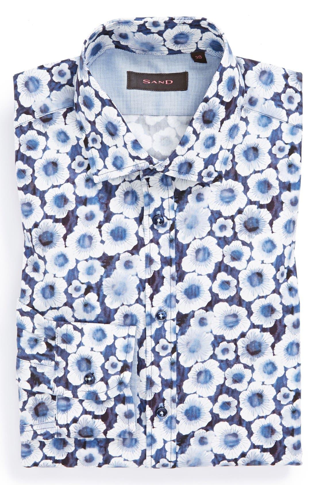 Alternate Image 1 Selected - SAND Trim Fit Floral Print Dress Shirt