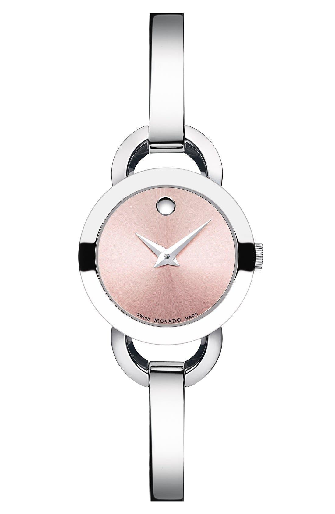 Alternate Image 1 Selected - Movado 'Rondiro' Small Round Bangle Watch, 22mm