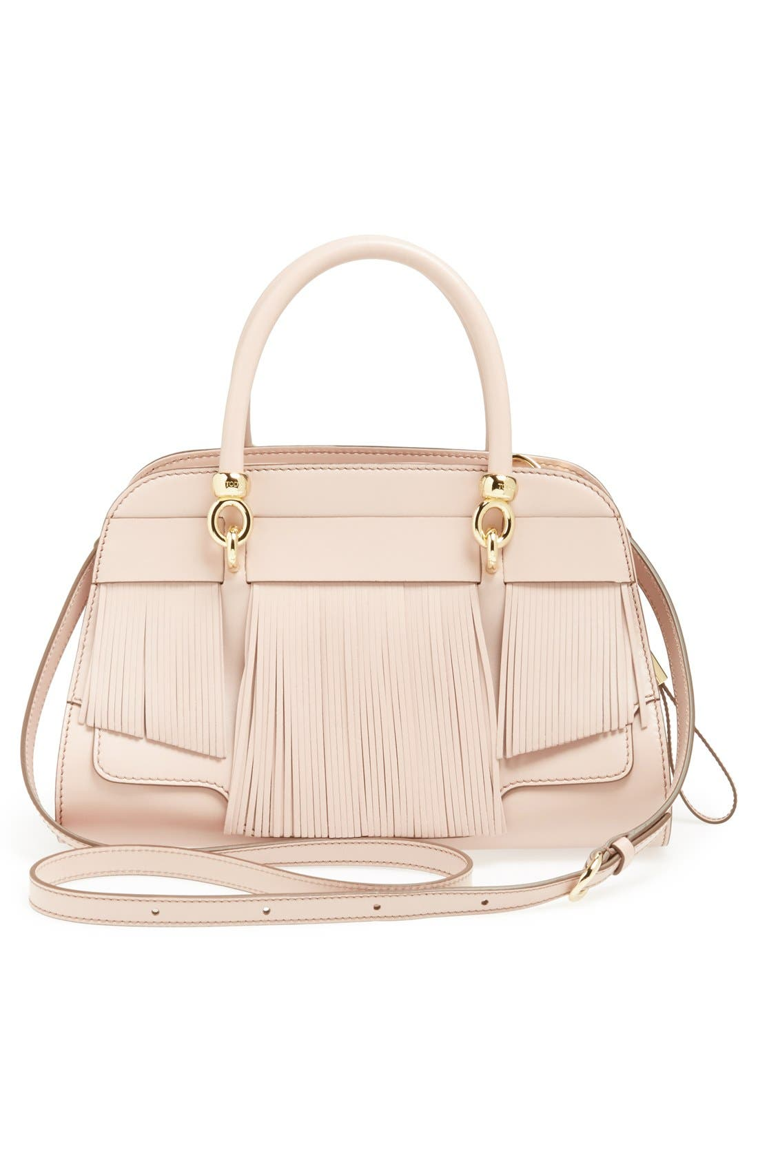 Alternate Image 4  - Tod's 'Sella' Fringe Leather Satchel