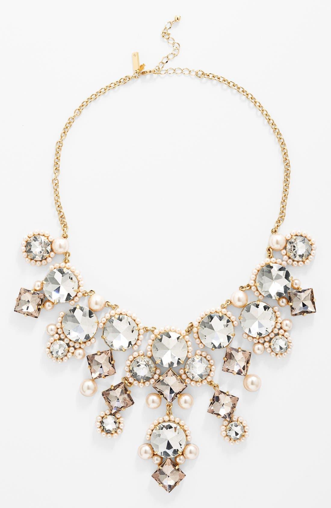 Main Image - kate spade new york 'palace gems' bib necklace