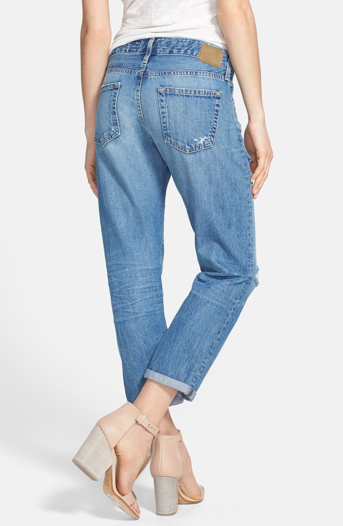 Alternate Image 2  - AG 'Drew' Destroyed Boyfriend Jeans (14 Year Tailspin)