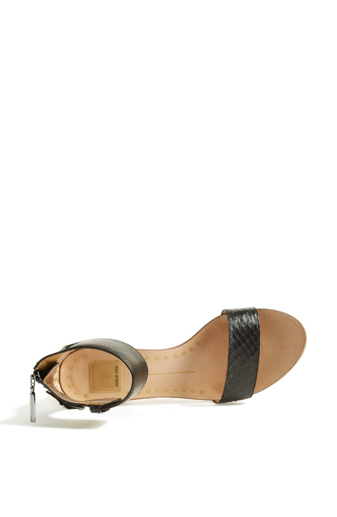 Alternate Image 3  - Dolce Vita 'Foxie' Snakeskin & Leather Sandal