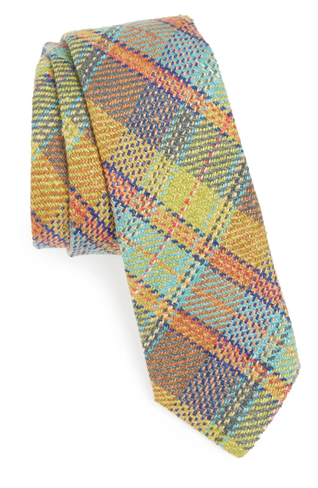 Alternate Image 1 Selected - Gitman Plaid Silk Tie